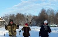 Скандинавская ходьба в д. Починок - Болотово11 января 2021 года